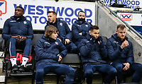 Bolton Wanderers' bench: Sammy Ameobi, Craig Noone, Marc Wilson, Luca Connell, Pawel Olkowski and David Wheater  <br /> <br /> Photographer Andrew Kearns/CameraSport<br /> <br /> The EFL Sky Bet Championship - Wigan Athletic v Bolton Wanderers - Saturday 16th March 2019 - DW Stadium - Wigan<br /> <br /> World Copyright &copy; 2019 CameraSport. All rights reserved. 43 Linden Ave. Countesthorpe. Leicester. England. LE8 5PG - Tel: +44 (0) 116 277 4147 - admin@camerasport.com - www.camerasport.com