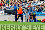 Kerry Selectors Tommy Griffin and James Foley with Dr Michael Finnerty (Medical) during the All Ireland Senior Football Semi Final between Kerry and Tyrone at Croke Park, Dublin on Sunday.