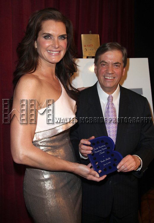 Brooke Shields & Michael Presser.attending the Inside Broadway  2011 Broadway Beacon Awards at The Players Club in New York City.