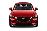Car photography straight front view of a 2019 Mazda CX-3 Grand-Touring 5 Door SUV Front View