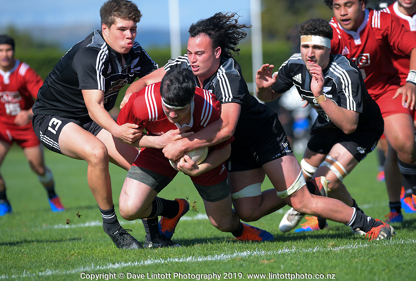 NZ Maori Under-18 v NZ Schools Barbarians. Game Of Three Halves NZ Schools pre-season rugby match at the Sport & Rugby Institute in Palmerston North, New Zealand on Thursday, 26 September 2019. Photo: Dave Lintott / lintottphoto.co.nz