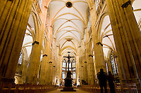 Interior of St. Peters Cathedral, Regensburg, Germany