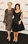 LOS ANGELES, CA - JUNE 07: Melanie Griffith and Marcia Gay Harden arrive at the 40th AFI Life Achievement Award honoring Shirley MacLaine at Sony Pictures Studios on June 7, 2012 in Los Angeles, California.