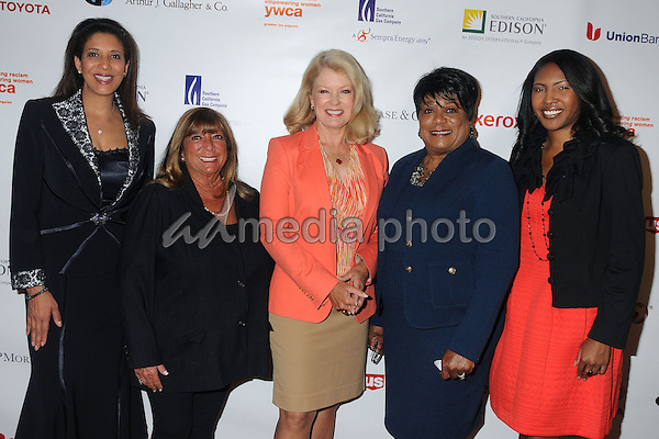13 May 2015 - Los Angeles, California - Christine Devine, Bonnie Tiegle, Mary Hart, Faye Washington, Dallas Fowler. YWCA Phenomenal Woman of The Year Award Ceremony held at The Omni Hotel. Photo Credit: Byron Purvis/AdMedia