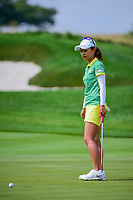 Ai Miyazato (JPN) barely misses her birdie putt on 1 during Saturday's third round of the 72nd U.S. Women's Open Championship, at Trump National Golf Club, Bedminster, New Jersey. 7/15/2017.<br /> Picture: Golffile | Ken Murray<br /> <br /> <br /> All photo usage must carry mandatory copyright credit (&copy; Golffile | Ken Murray)