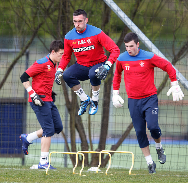 Allan McGregor takes off as he leads the acrobatic goalkeeping squad