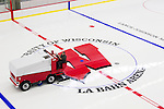 Zamboni driver Art Shultz grooms the ice at the LaBahn Arena Monday, October 1, 2012 in Madison, Wisc. (Photo by David Stluka)