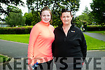 l-r  Leanne O'Regan and Katriona O'Regan enjoying  the 'Step For Smiles' charity walk in aid of cancer awareness charity the Marie Keating Foundation on Sunday in Tralee Town Park