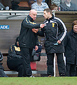 :: DUNDEE UTD MANAGER PETER HOUSTON HAS A GO AT FOURTH OFFICIAL STEVEN MCLEAN ::
