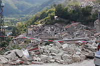 Pescara del Tronto ( Ascoli Piceno ) 24-08-2018 <br /> Central Italy was struck by a earthquake of 6.2 magnitude during the early hours if August 24 2016 <br /> Foto Samanha Zucchi/Insidefoto