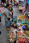 Colorful marketplace in Ecuador