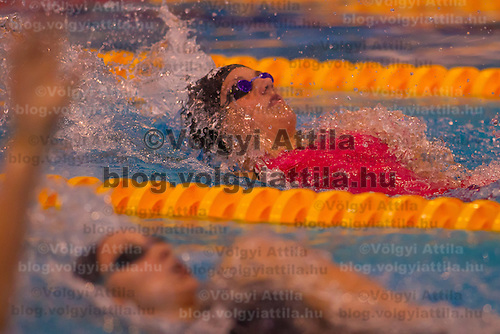 Katinka Hosszu of Hungary competes in the Women's 200m Individual Medley of the 31th European Swimming Championships in Debrecen, Hungary on May 23, 2012. ATTILA VOLGYI