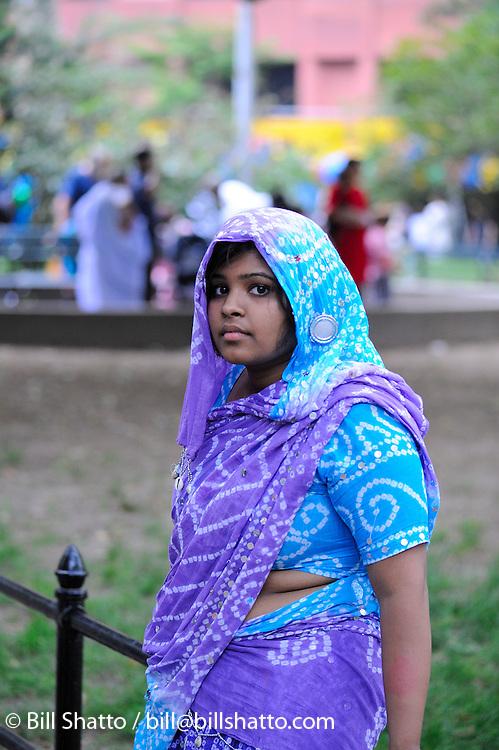 ISKCON (International Society for Krishna Consciousness) or Hare Krishna festival: June 14, 2008: Washington Square Park, New York City.