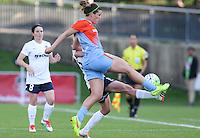 Boyds, MD - Saturday May 14, 2016: Houston Dash defender Cari Roccaro (5) and Washington Spirit midfielder Joanna Lohman (15) during a regular season National Women's Soccer League (NWSL) match at Maureen Hendricks Field, Maryland SoccerPlex.
