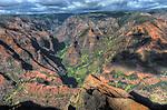 HDR of details of Waimea Canyon, Kauai, Hawaii