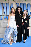 Lily James, Cher &amp; Amanda Seyfried arriving for the &quot;Mama Mia! Here We Go Again&quot; world premiere at the Eventim Apollo, Hammersmith, London, UK. <br /> 16 July  2018<br /> Picture: Steve Vas/Featureflash/SilverHub 0208 004 5359 sales@silverhubmedia.com