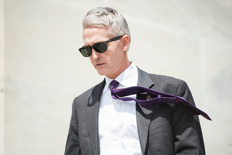 UNITED STATES - APRIL 23: Rep. Trey Gowdy, R-S.C., walks down the House steps following votes on Thursday, April 23, 2015. (Photo By Bill Clark/CQ Roll Call)