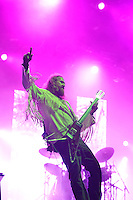 DERBYSHIRE, ENGLAND - AUGUST 13: Brent Hinds of 'Mastodon' performing at Bloodstock Open Air Festival, Catton Park on August 13, 2016 in Derbyshire, England.<br /> CAP/MAR<br /> &copy;MAR/Capital Pictures /MediaPunch ***NORTH AND SOUTH AMERICAS ONLY***