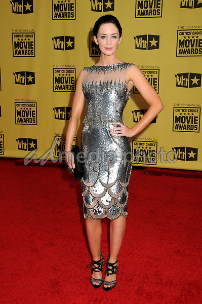 15 January 2010 - Hollywood, California - Emily Blunt. 15th Annual Critics' Choice Movie Awards - Arrivals held at the Hollywood Palladium. Photo Credit: Byron Purvis/AdMedia