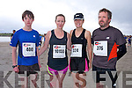 Seamus Fitzpatrick, Marie Lynch,  Patricia  Lynch and Aaron Fitzpatrick at the The Brandon Bay half marathon and 10k run, Ireland's first and only running event entirely run on a beach,  in the Maharees, Castlegregory,  on Saturday