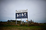 A sign in Ruthven, Iowa along Republican presidential candidate Rep. Michele Bachmann's campaign route August 9, 2011.