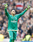 Real Madrid's Keylor Navas celebrates goal during La Liga match. February 13,2016. (ALTERPHOTOS/Acero)