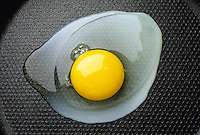 EGG FRYING: DENATURATION OF PROTEIN (2 of 4)<br /> Exothermic Reaction - Energy Is Absorbed<br /> Egg white changes from clear to clouded &amp; finally to solid white as the egg heats up.