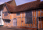 Little Hall, Lavenham, Suffolk, England. Little Hall is a late 14th Century Hall House on the main square in the picturesque village of Lavenham.