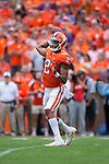Clemson Tigers quarterback Kelly Bryant (2) passes the ball during first half action against the Wake Forest Demon Deacons at Memorial Stadium on October 7, 2017 in Clemson, South Carolina.  The Tigers defeated the Demon Deacons 28-14. (Brian Westerholt/Sports On Film)