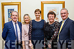 On the Green<br /> ------------------<br /> Having a laugh at the Tralee Golfclub captains dinner in the Ballyroe Heights hotel, Tralee last Saturday night were L-R Dr Tommy O'Regan, Joan Daly, Nora O'Regan, Mary Sheehy and Ed Buckley.