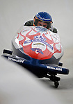 5 January 2008: Former NASCAR Nextel Cup Competitor Larry Gunselman exits a turn at the 3rd Annual Chevy Geoff Bodine Bobsled Challenge at the Olympic Sports Complex on Mount Van Hoevenberg, in Lake Placid, New York...Mandatory Photo Credit: Ed Wolfstein Photo