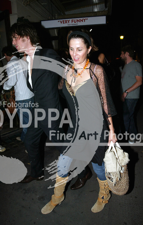 LONDON <br /> PICTURES BY ROB KEARNEY/EAGLE <br /> PLEASE CREDIT ALL USES<br /> ----------------------------------<br /> SADIE FROST AND JACKSON SCOTT PICTURED LEAVING THE NEW AMBASSADORS THEATRE AND GOING TO THE IVY RESTAURANT<br /> ----------------------------------<br /> <br /> CONTACT:  JAVIER MATEO <br /> 16 NORTH POLE ROAD<br /> LONDON W10 6QL<br /> MOBILE: +44 778651 4443<br /> EMAIL: photos@eaglephoto.co.uk
