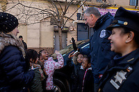 NEW YORK - JANUARY 06: Mayor of New York , Bill de Blasio greets the children during the Three Kings Day Parade in East Harlem January 6, 2017 in New York City. The parade celebrates the Feast of the Epiphany, also known as Three Kings Day, marking the Biblical story of the visit of three kings to Bethlehem to visit the baby Jesus, revealing his divinity. Photo by VIEWpress/Maite H. Mateo