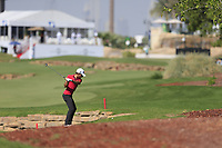 Joakim Lagergren (SWE) on the 18th during the 1st round of the DP World Tour Championship, Jumeirah Golf Estates, Dubai, United Arab Emirates. 15/11/2018<br /> Picture: Golffile | Fran Caffrey<br /> <br /> <br /> All photo usage must carry mandatory copyright credit (&copy; Golffile | Fran Caffrey)