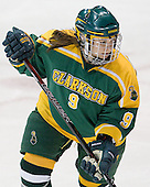 Hailey Wood (Clarkson - 9) - The Northeastern University Huskies defeated the visiting Clarkson University Golden Knights 5-2 on Thursday, January 5, 2012, at Matthews Arena in Boston, Massachusetts.