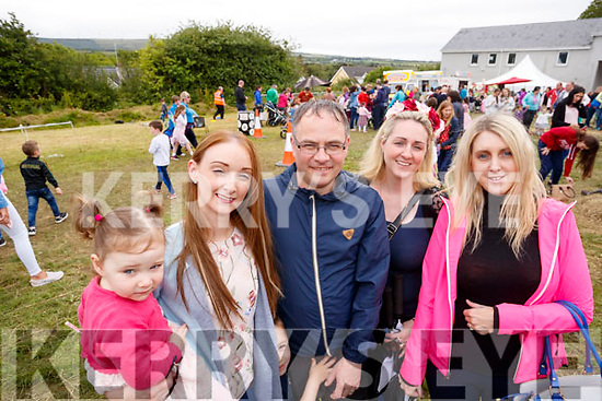 Attending the Kilflynn Enchanted Fairy Festival on Sunday afternoon last were l-r: Katelyn O'Connor, Karen Glover O'Connor, Ian O'Connor, Cathy Casey and Shannon Casey, all from Tralee.