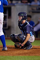 Corpus Christi Hooks catcher Garrett Stubbs (1) during a game against the Tulsa Drillers on June 3, 2017 at ONEOK Field in Tulsa, Oklahoma.  Corpus Christi defeated Tulsa 5-3.  (Mike Janes/Four Seam Images)