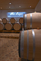 Oak barrel aging and fermentation cellar. Domaine Henri Bourgeois, Chavignol, Sancerre, Loire, France