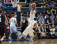 December 29th, 2012: California's Allen Crabbe rebounds the ball away from Harvard during a game at Haas Pavilion in Berkeley, Ca Harvard defeated California 67 - 62