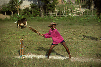 Kids playing cricket in Sri Lanka in 1996.
