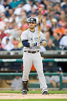 Nick Swisher #33 of the New York Yankees steps up to the plate at Comerica Park April 27, 2009 in Detroit, Michigan.  Photo by Brian Westerholt / Four Seam Images