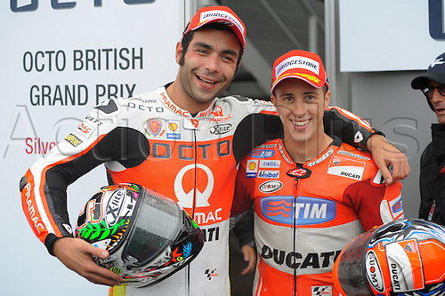 30.08.2015. Silverstone, Northants, UK. OCTO British Grand Prix.  during the race. Danilo Petrucci (2nd) and Andrea Dovizioso finished in 3rd place.