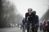 Dwars Door Vlaanderen 2013.Nikki Terpstra (NLD) up the Nieuwe Kwaremont