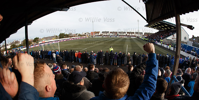 Rangers fans at Links Park Montrose