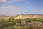 Israel, Jordan valley, a view of the Mamluk Khan and the custom house from Old Gesher