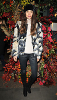 Sarah Ann Macklin at the Ivy Chelsea Garden's Winter Garden launch party, The Ivy Chelsea Garden, King's Road, London, England, UK, on Sunday 05 November 2017.<br /> CAP/CAN<br /> &copy;CAN/Capital Pictures