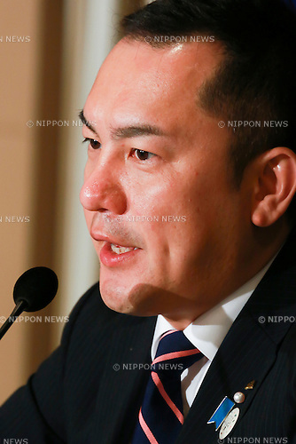 Eikei Suzuki Governor of Mie Prefecture speaks about the preparation plans for the next G7 Summit to be held in Ise-Shima, Mie, in May 2016 during a press conference at the Foreign Correspondents' Club of Japan on November 18, 2015, Tokyo, Japan. Suzuki also spoke about security for the summit in the wake of the recent terrorist attacks in Paris. In June, Prime Minister Shinzo Abe announced the Japanese prefecture for the venue of the next G7 summit, which will be the sixth to be held in Japan. The last time Japan hosted the event was in Toyako, Hokkaido in 2008. (Photo by Rodrigo Reyes Marin/AFLO)