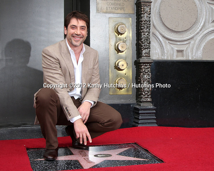 LOS ANGELES - NOV 8:  Javier Bardem at the Hollywood Walk of Fame Star Ceremony for Javier Bardem at El Capitan Theater on November 8, 2012 in Los Angeles, CA