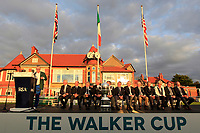 Nathalian Crosby (Captain USA) at the Award ceremony of the Walker Cup at Royal Liverpool Golf CLub, Hoylake, Cheshire, England. 08/09/2019.<br /> Picture Thos Caffrey / Golffile.ie<br /> <br /> All photo usage must carry mandatory copyright credit (© Golffile | Thos Caffrey)