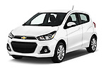 2017 Chevrolet Spark 1LT 5 Door Hatchback Angular Front stock photos of front three quarter view